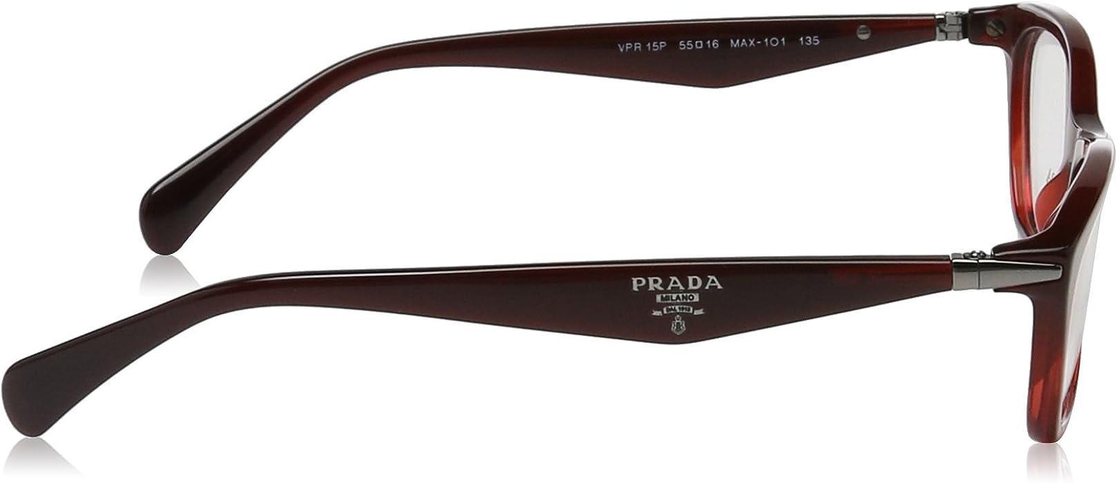 a8a518377b7f Amazon.com: Prada Women's PR 15PV Eyeglasses 55mm: Shoes