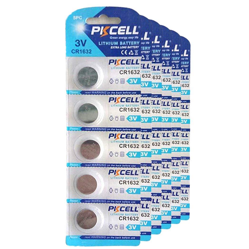 30 Pcs CR1632 1632 3V Lithium Battery for Car Remote