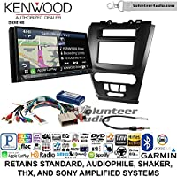 Volunteer Audio Kenwood DNX874S Double Din Radio Install Kit with GPS Navigation Apple CarPlay Android Auto Fits 2010-2012 Fusion (Black)