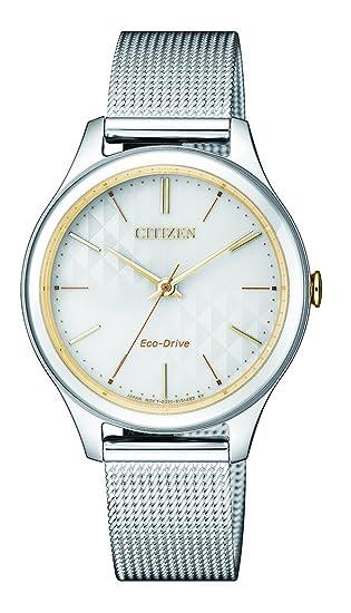Citizen - Reloj analógico de Cuarzo con Correa de Acero Inoxidable em0504 - 81 A: Amazon.es: Relojes