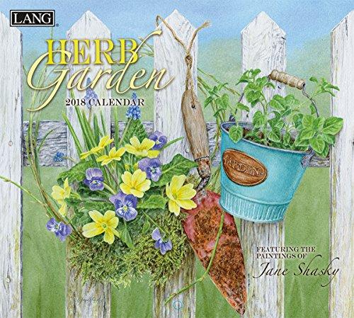 """LANG - 2018 Wall Calendar - """"Herb Garden"""", Artwork by Jane Shasky - 12 Month - Open 13 3/8"""" X 24"""""""