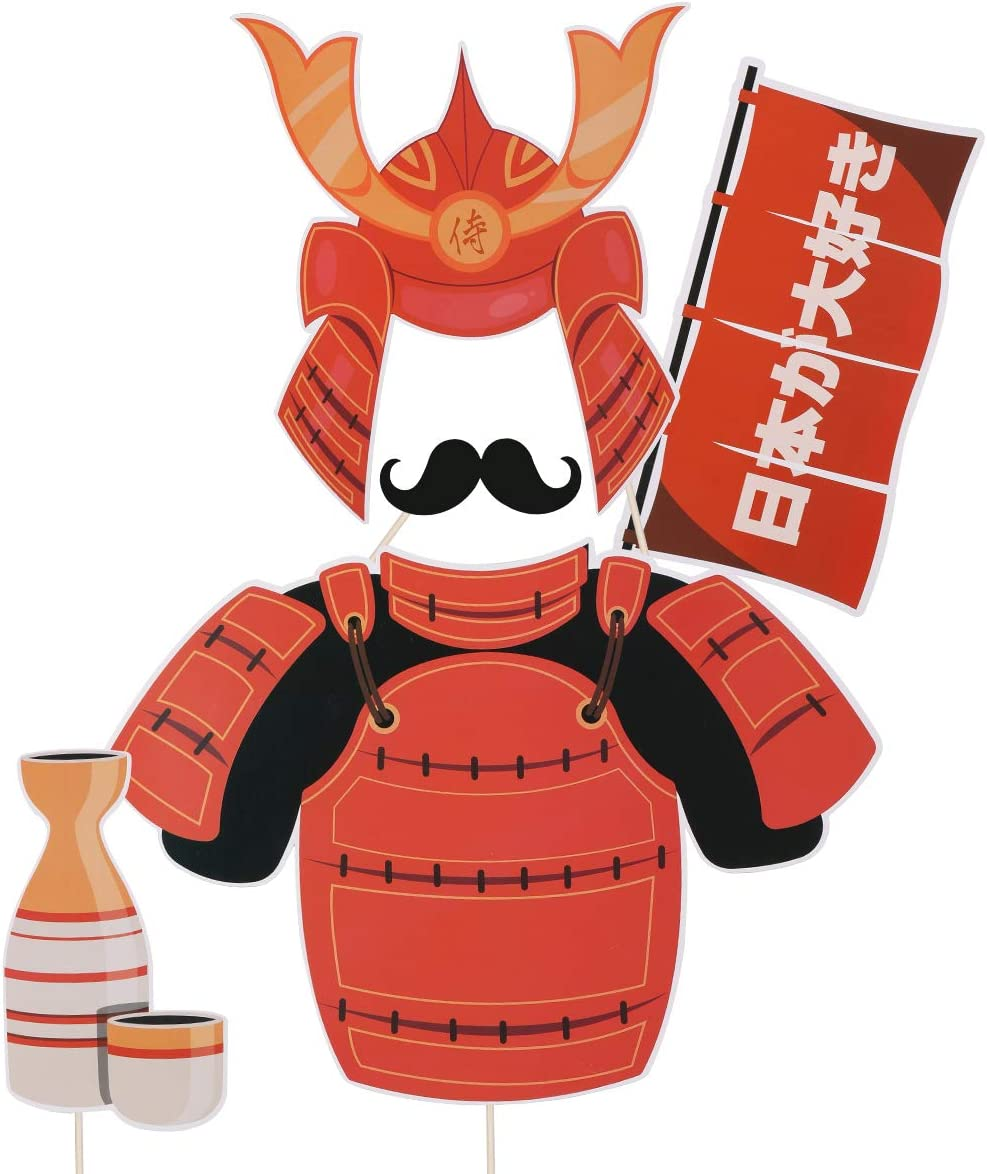 20pcs Japanese Tea Party Photo Booth Props Japanese Cuisine Sushi Restaurant Decoration Japanese Banquet Dancing Party Photo Props