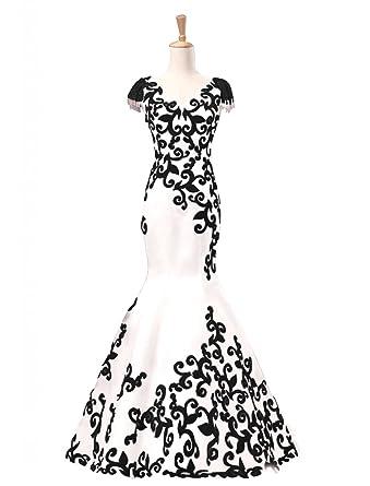 Amazon.com: King\'s Love Women\'s Mermaid Evening Dress Velvet Lace ...