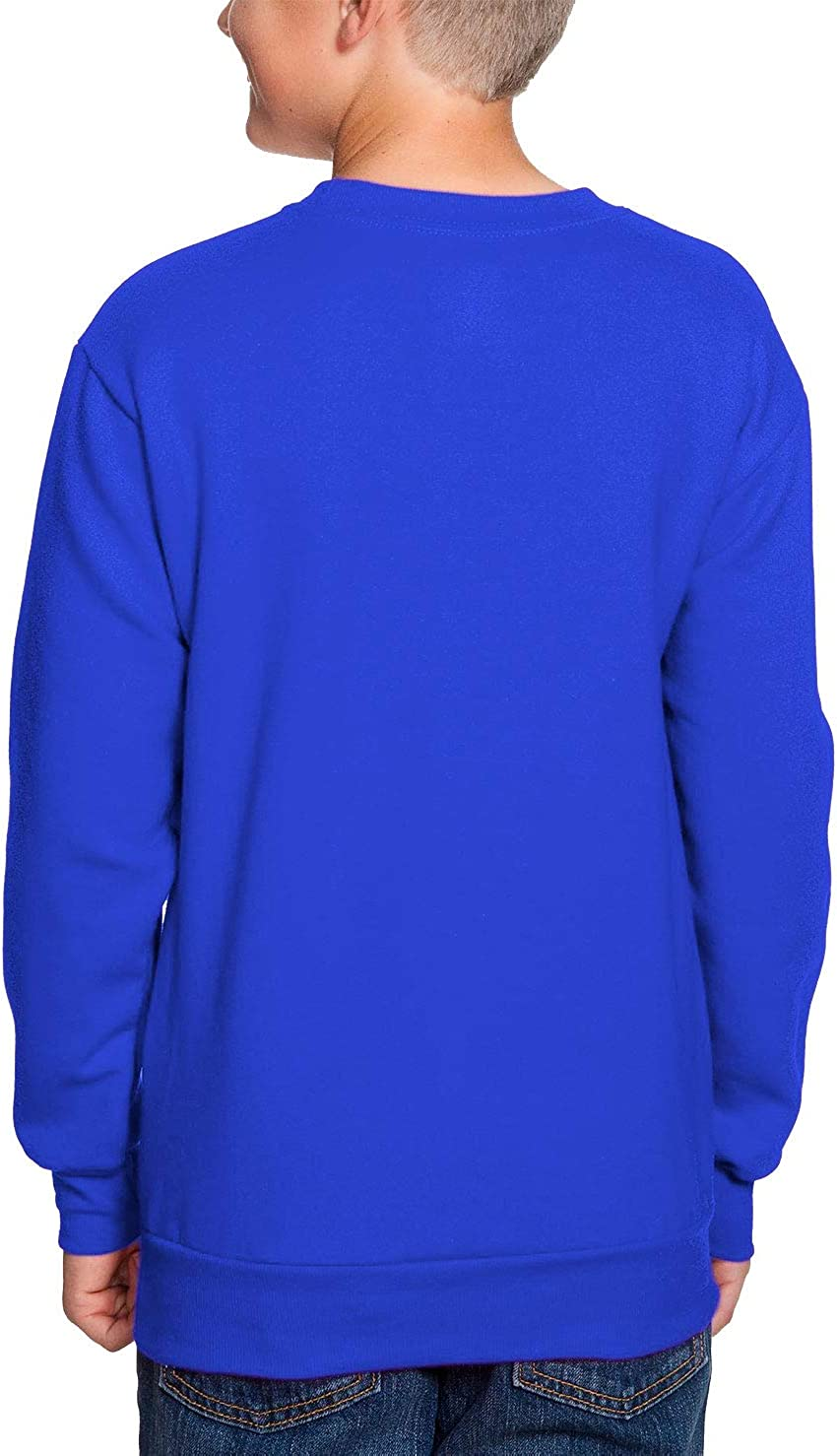 Back to School Youth Fleece Crewneck Sweater HAASE UNLIMITED Hello 5th Grade Royal Blue, X-Large