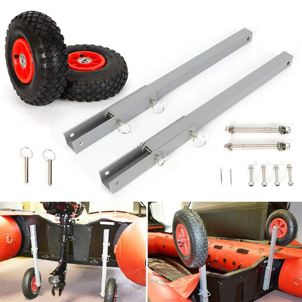 Boat Transom Launching Wheels Dolly for Inflatable Dinghy Yacht Tender Raft (US Stock) by SHZICMY