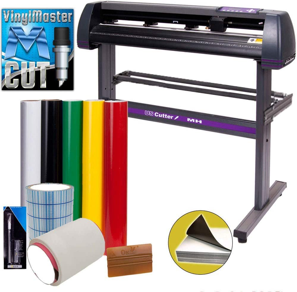 Vinyl Cutter USCutter MH 34in Bundle - Sign Making Kit w/Design & Cut Software, Supplies, Tools, US-Based Customer Support