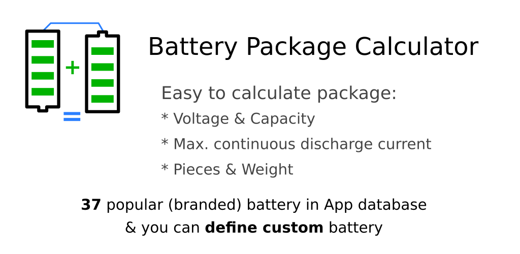 Battery Package Calculator: Amazon ca: Appstore for Android