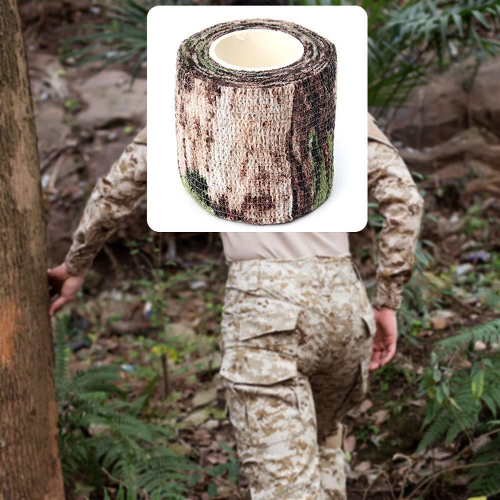 Ogquaton Ruban adh/ésif de camouflage de qualit/é sup/érieure Camping Strap Stretch Wrap /Élastique Stealth