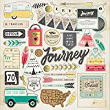 American Crafts 683751 Crate Paper Journey Chipboard With Gold Foil Embellishments