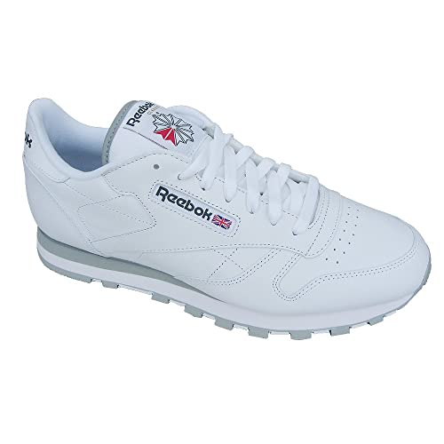 Zapatilla para hombre Reebok Classic, cuero blanco 2214, talla Euro 44,5, 29 cm, color Blanco, talla 44,5: Amazon.es: Zapatos y complementos