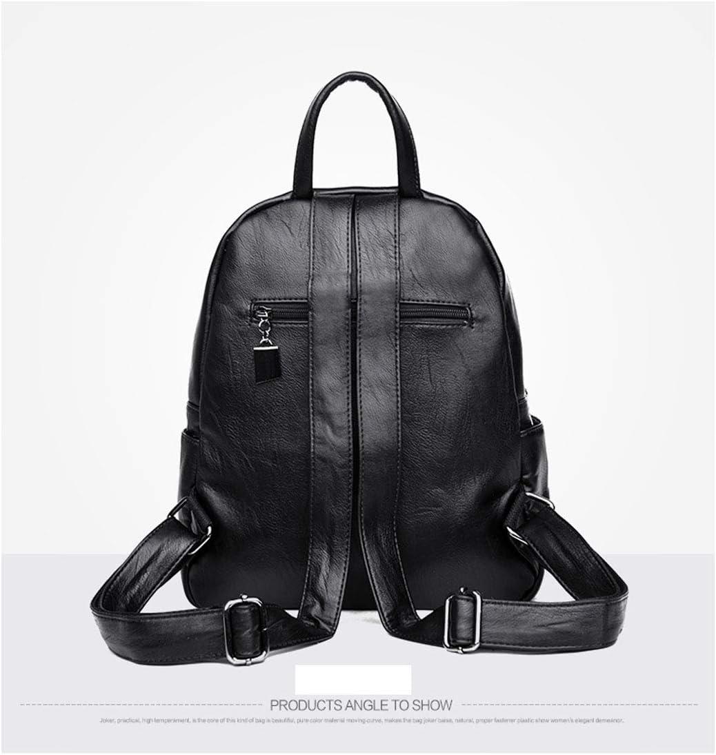 PU Leather Sleek Minimalist 2019 New Hengtongtongxun Girls Multifunctional Backpack for Daily Travel//Outdoor//Travel//School//Work//Fashion//Leisure Black//Blue//Red//Purple//Bronze