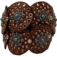 Nocona Women's Wide Floral Discs Belt