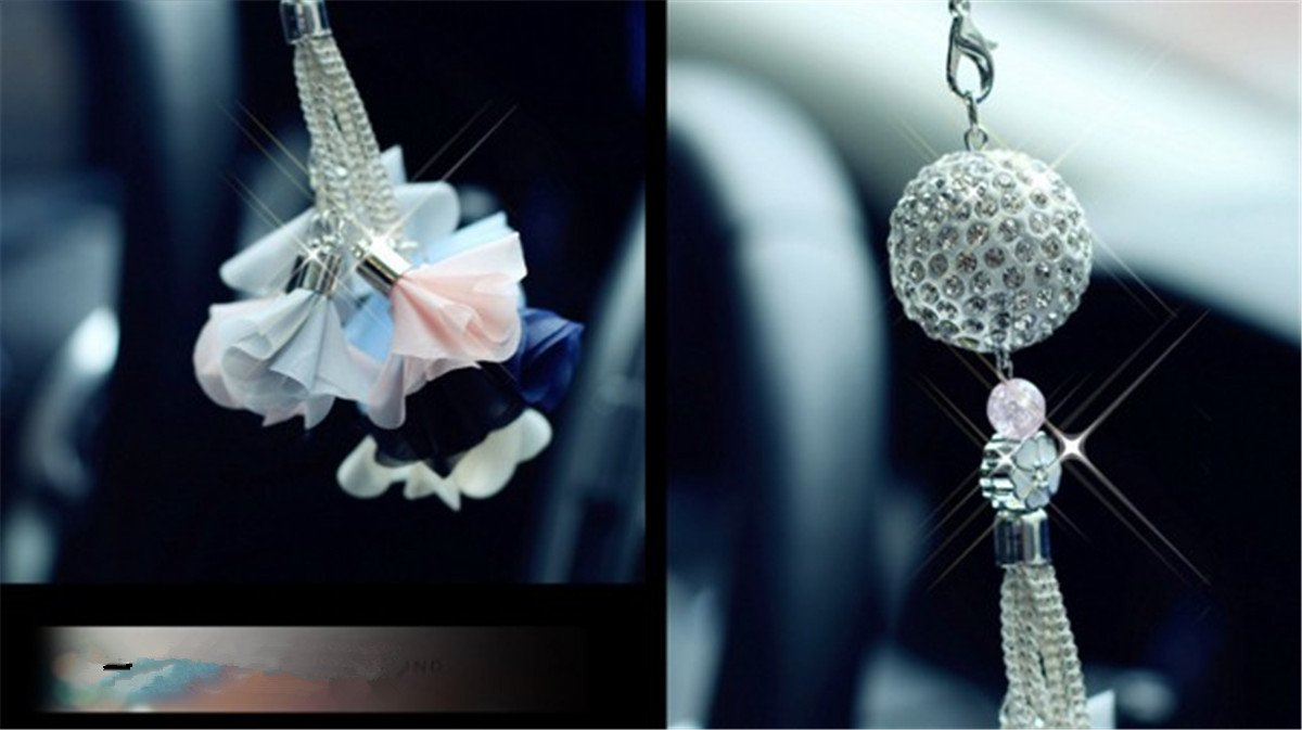 Fochutech Crystal Ball Car Pendant Decor Lucky Safety Hanging Ornament Gift Rear View Mirror Accessories Auto Interior Dangle
