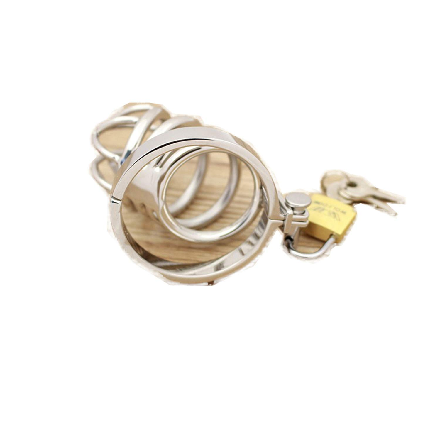 sensitives Male Chastity Device Stainless Steel Cock Short Cage Men's Virginity Lock, Small Chastity Belt Adult Game Sex Toys 38mm by sensitives (Image #6)
