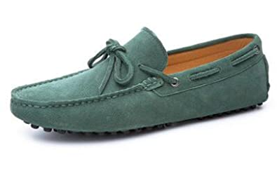 fef87058871 HAPPYSHOP Men s Casual Suede Leather Tassel Slip-On Loafers Driving Car  Moccasins Outdoor Boat Shoes