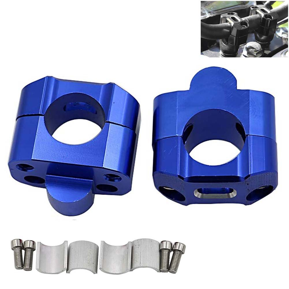 22mm /& 1 1//8 1Pair CNC Aluminum Motorcycle Handlebar Risers 28mm Adjustable,Motoparty Fat Bar Risers Mount Clamp Adaptor Fits For Most Motorcyle,Dirt Bikes,ATVs with 7//8 Handlebars,Purple 28mm