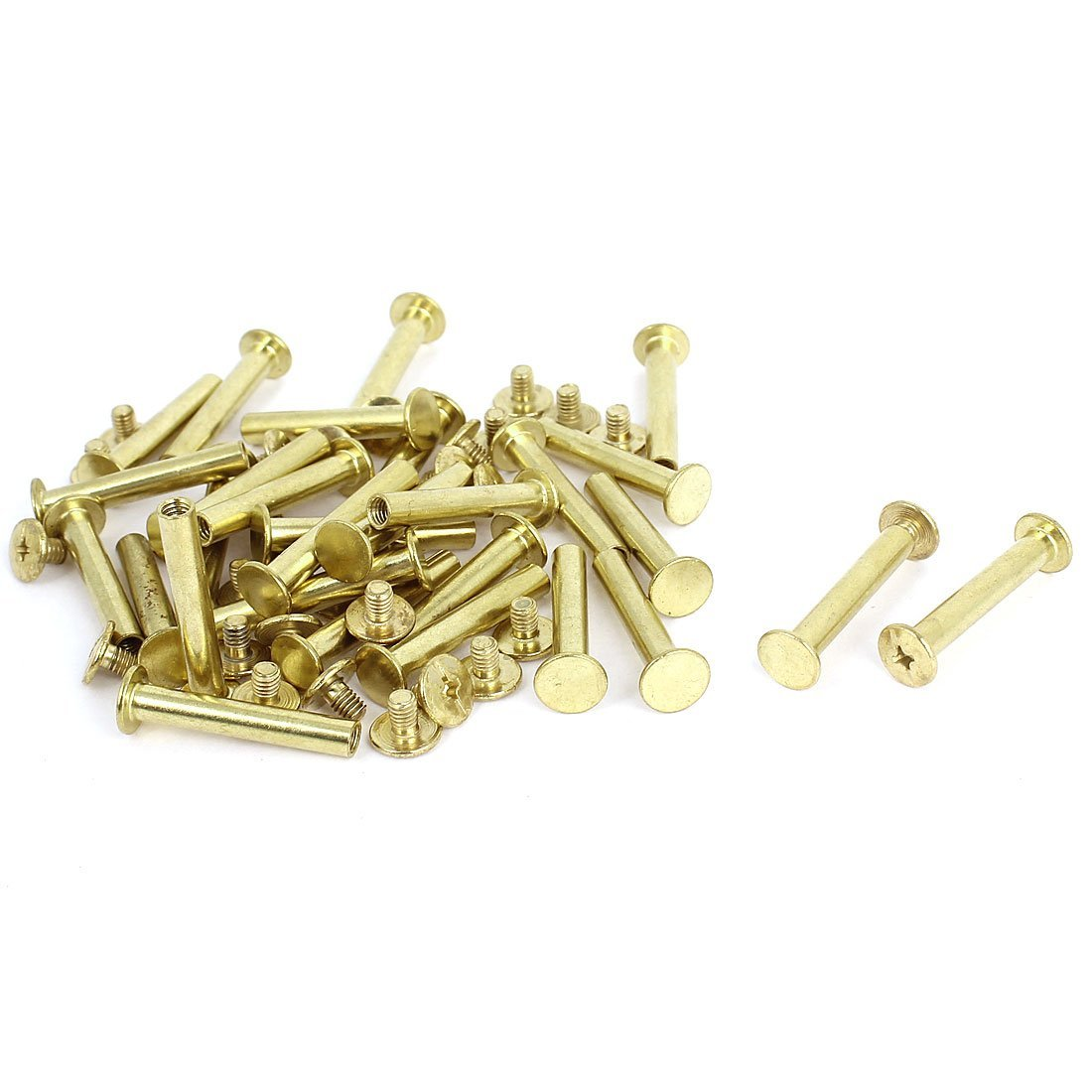 Leather Scrapbook 5x30mm Chicago Brass Plated Fixing Screw Post 30pcs