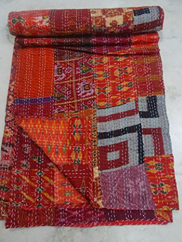 Patchwork Kantha 90x108 Bedcover Blanket product image