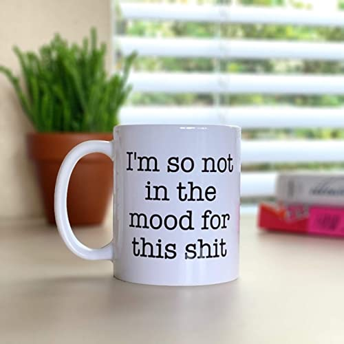 Funny Birthday Gift For Friend Im So Not In The Mood This Shit IN268 Coworker Office Humor Work Unspirational Mug