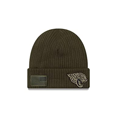 New Era Jacksonville Jaguars Beanie On Field 2018 Salute to Service Knit  Green - One- 75cea3931