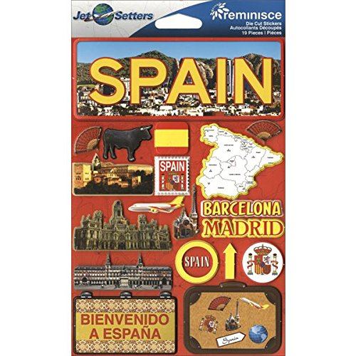 (Reminisce JST-063 Jet Setters 3-Dimensional Die-Cut Sticker, Spain)