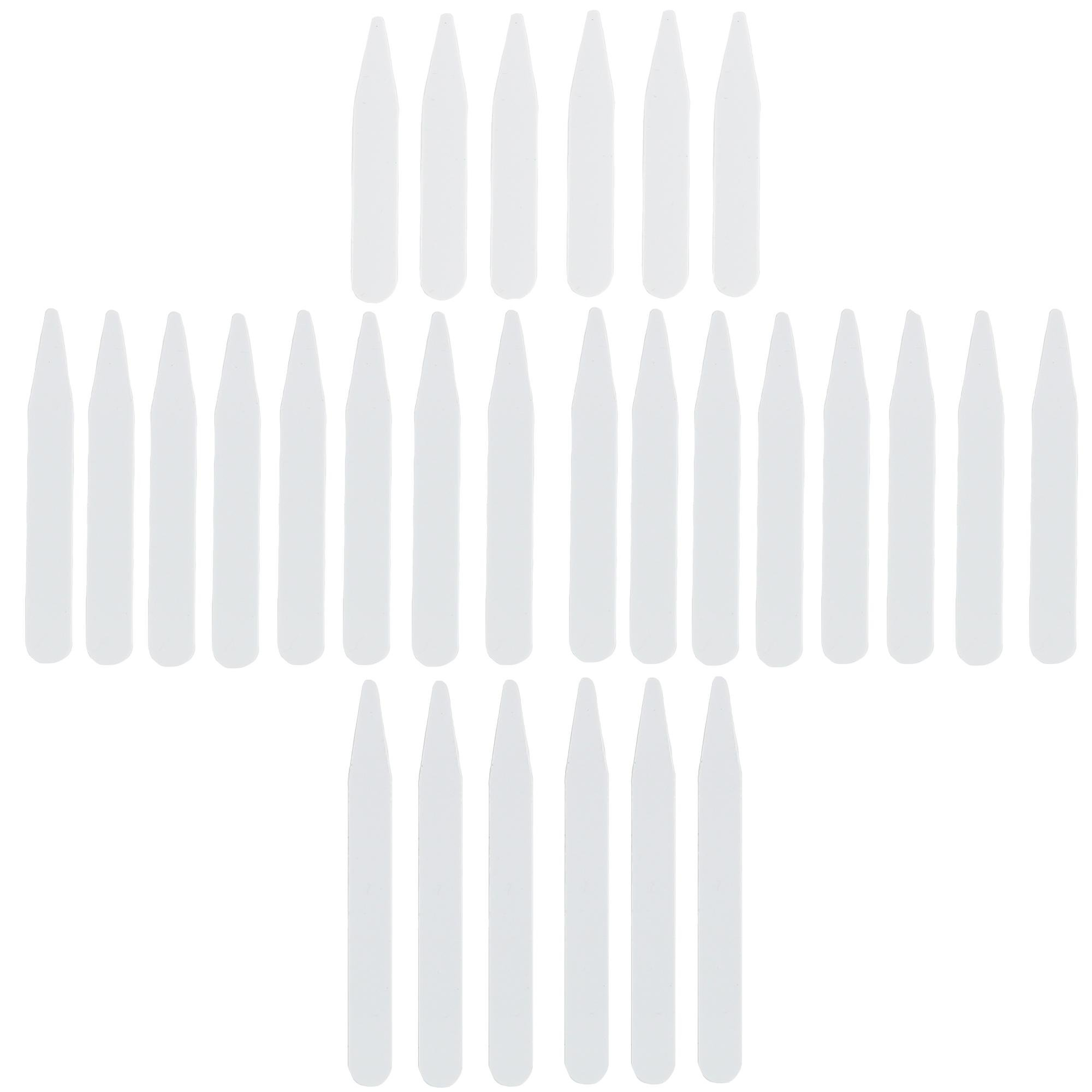CrookhornDavis Men's Plastic Collar Stays in 3 Lengths (Pack of 14 Sets), White