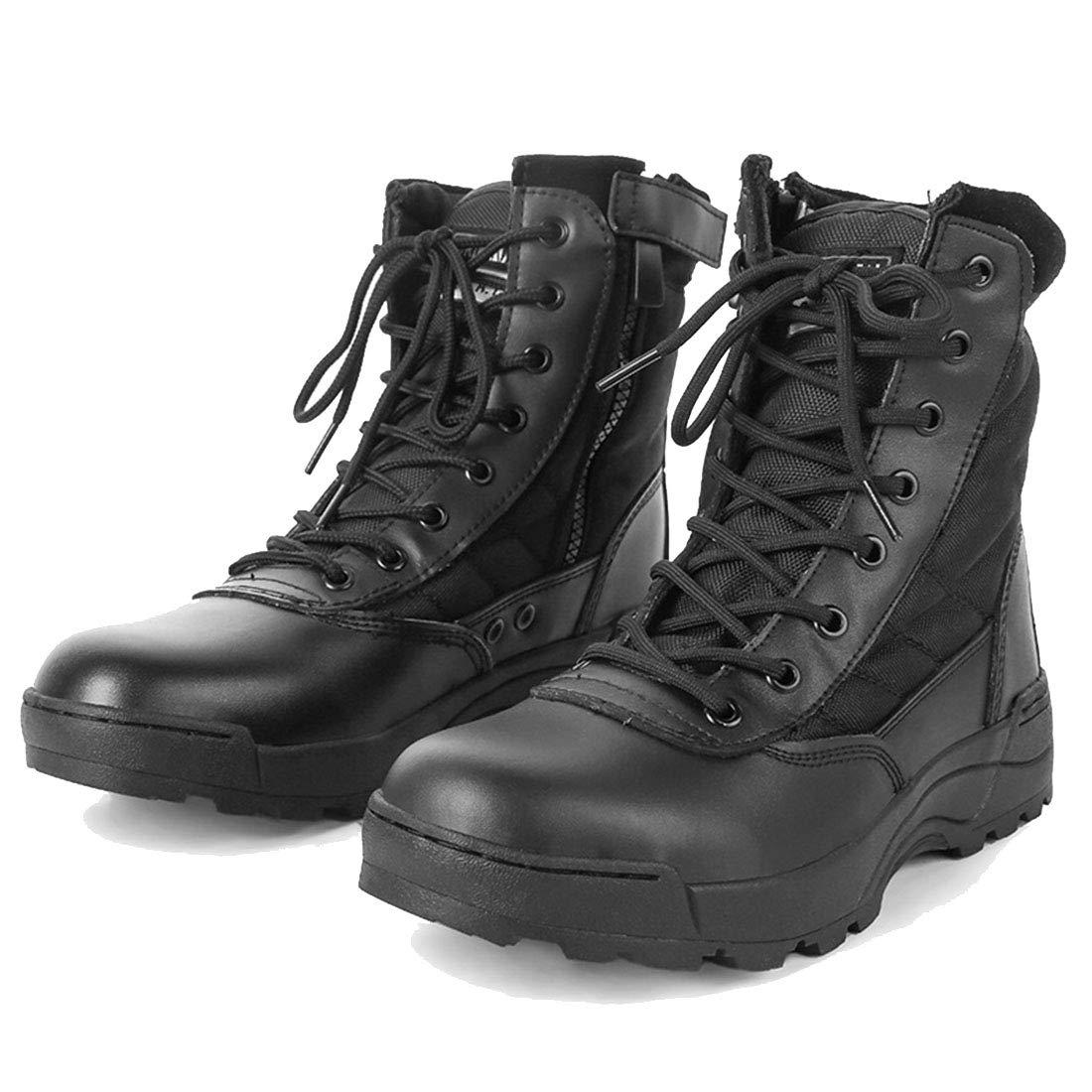noir 44EU FLYA Chaussures de randonnée pour Hommes avec Bottes de randonnée à glissière pour Toutes Les Saisons, randonnée, randonnée, Camping, randonnée, Cyclisme,noir-43EU