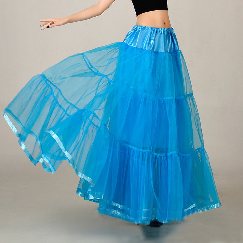 Honeystore Womens Ankle Length Petticoat Crinoline Underskirt for Long Dresses Blue: Amazon.co.uk: Clothing
