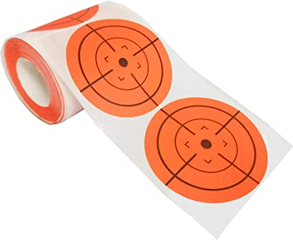 250 Pieces Hunting Targets 2 Inch Self Adhesive Paper Reactive Targets Stickers