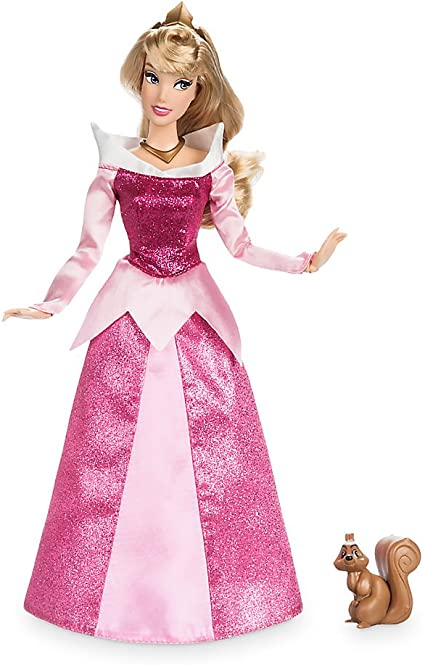 """New Disney Store Aurora Classic 11.5/"""" Doll toy With Ring"""