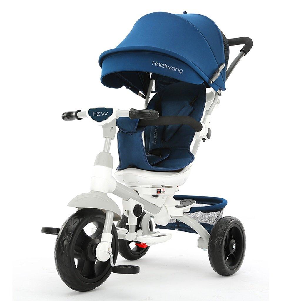 子供の三輪車1-7歳のベビーカーベビーバイクベビーバイク、星空スカイブルー/モーニングフォグブルー、77 * 52 * 107センチメートル (Color : Starry blue)  Starry blue B07DMY6CRT