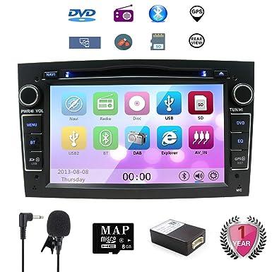 """7 """"Reproductor de CD y DVD del coche GPS Navi GPS para Opel Corsa"""