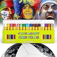 JamBer Face Paint, Face pastelli matite da Trucco sicure e atossiche per Bambini, Perfetto per Carnevale, Pasqua, Natale