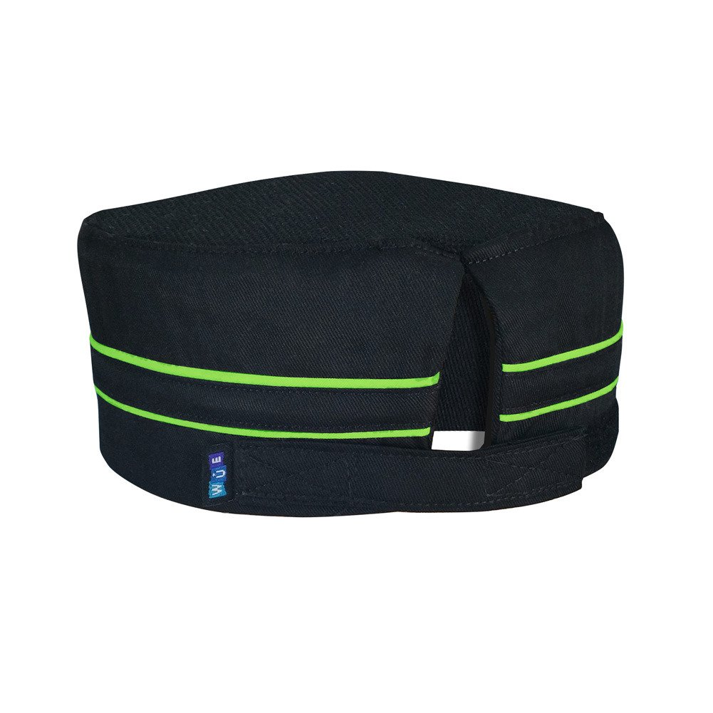 10oz apparel Mesh Top Chef Skull Hat with Lime Piping