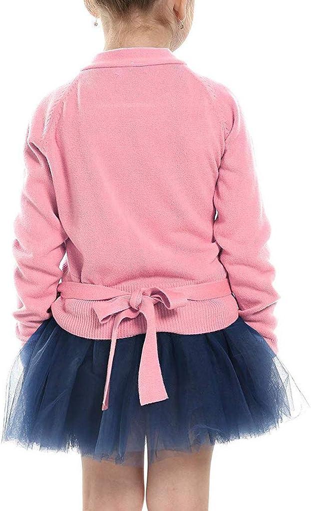 Little Squirrel Kids Girl Dance Sweater Ballerina Long Sleeve Knit Wrap Top Ballet Wrap Top