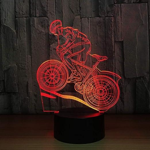Montar en bicicleta de montaña Usb 3D LED Lámpara de mesa de luz ...