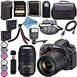 Nikon D750 DSLR Camera w/ 24-120mm Lens 1549 + Nikon 55-300mm f/4.5-5.6G ED VR Lens + 77mm 3 Piece Filter Kit + EN-EL15 Lithium Ion Battery + External Rapid Charger + Sony 128GB SDXC Card Bundle