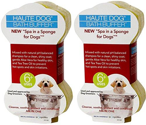 Spongeables Spa-In-a-Sponge for Dogs, 2.5oz (2 Sponges)