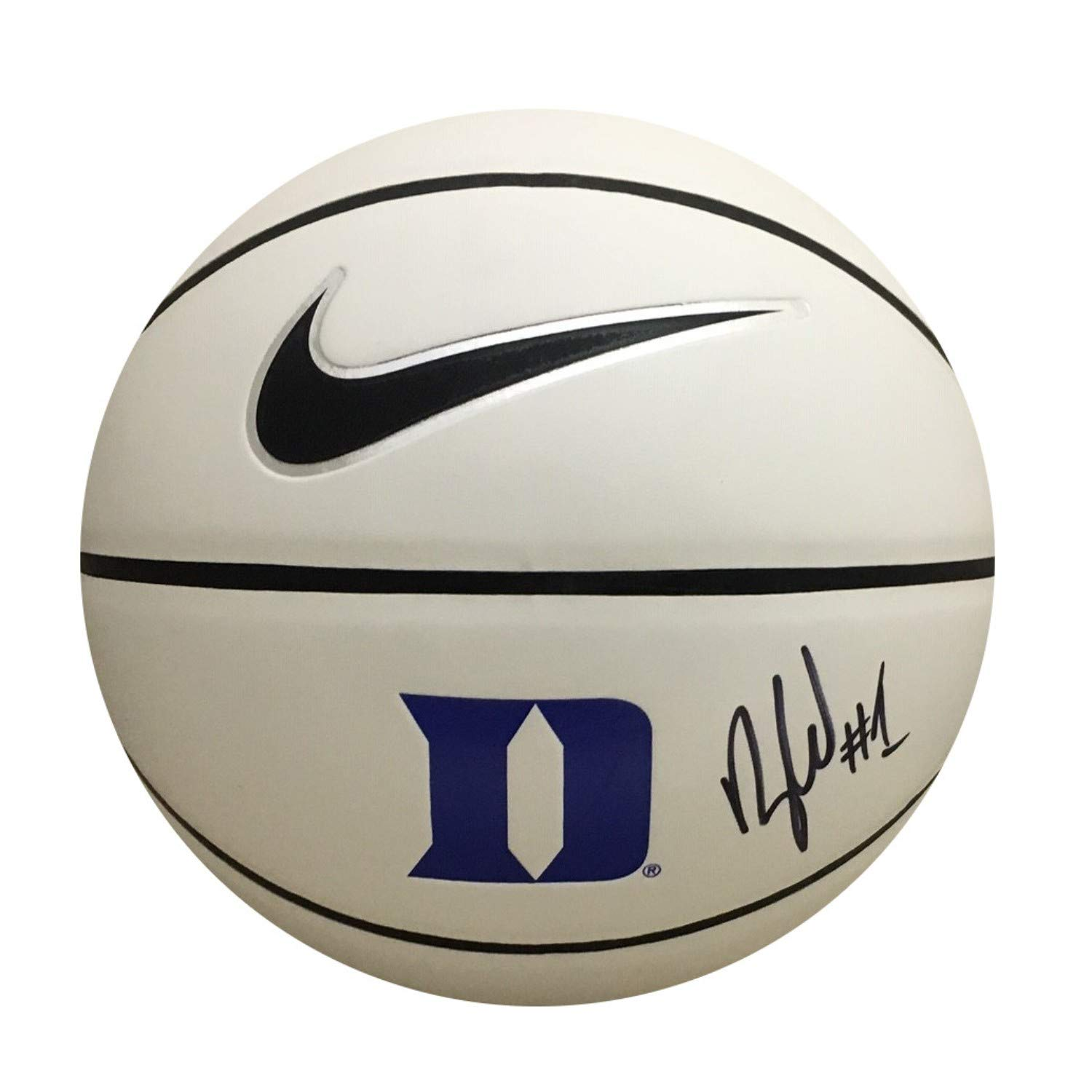 Zion Williamson Autographed Duke Blue Devils Signed Logo Basketball PSA DNA COA 2 Powers Collectibles
