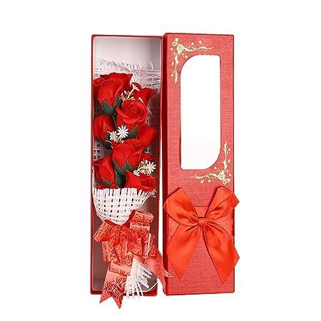 BESTOYARD 1 Pack Simulation Rosa jabón Rosa Flor perfumada ...