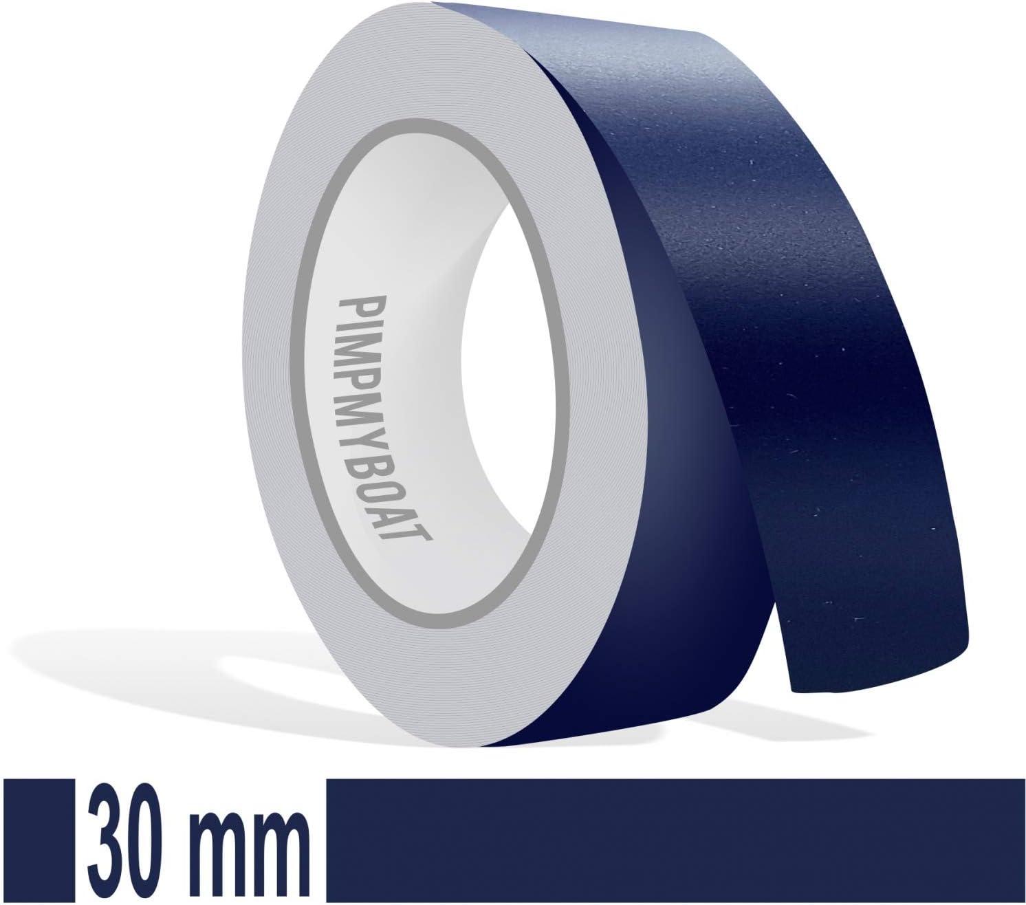 Siviwonder Matt stahlblau Marine Zierstreifen Aufkleber Breite 30mm L/änge 10m f/ür Auto Boot Klebeband blau 3cm