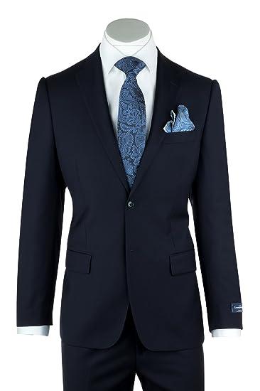 08c639a2 Tiglio Zegna Ermenegildo Cloth Canaletto Menswear - Slim Fit Superfine Wool  Suit~Model: Porto 1880U/0015