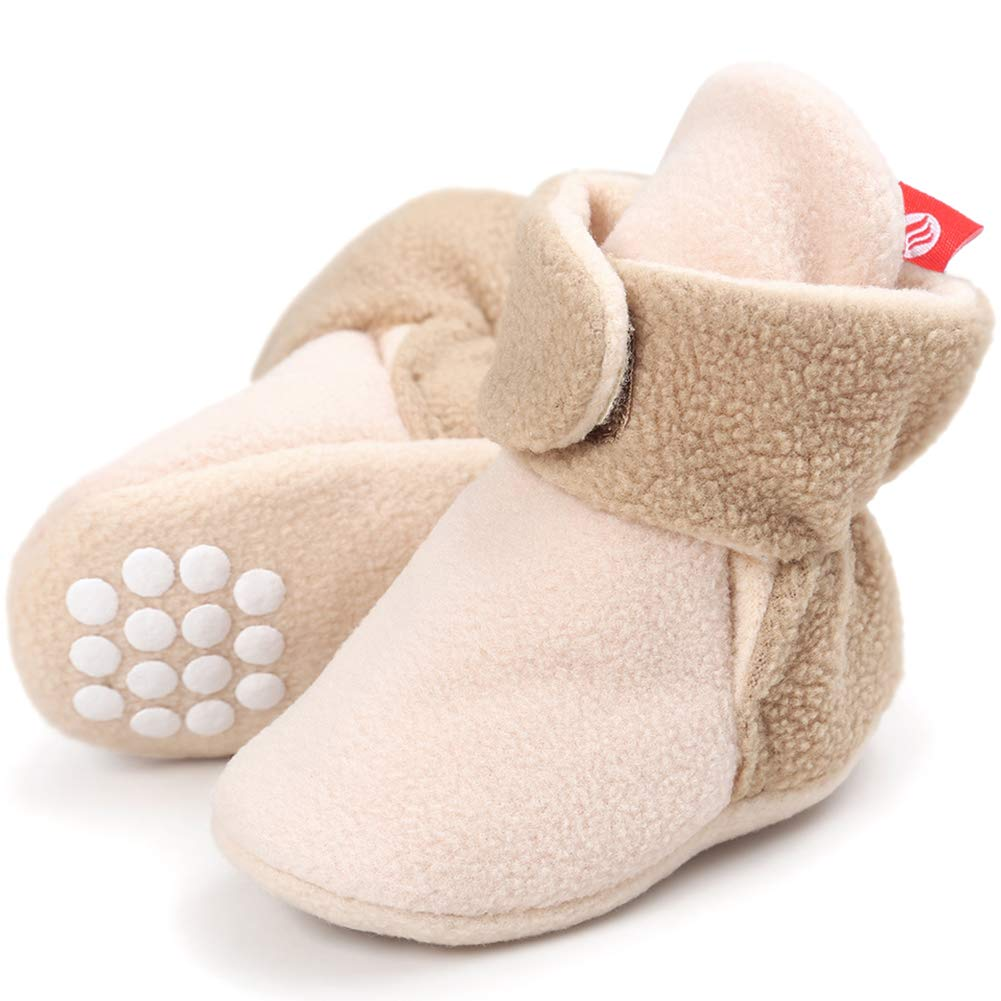CIOR Baby Cozy Fleece Booties with Non Skid Bottom