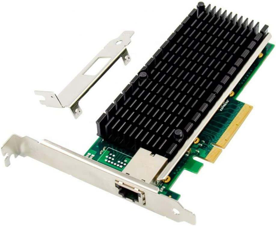 MEO PCIe X8 to Single Port 10GbE RJ45 Server NIC Network Card PCIE 10 Gigabit Ethernet Server Card X540 chipset 10000M 1000M LAN