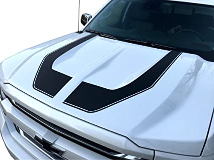 0cca146287 Image Unavailable. Image not available for. Color  Rally Edition Style Hood  Stripes - 2016 2017 2018 Silverado 1500 ...