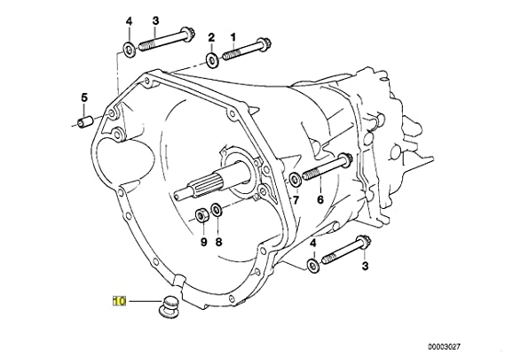 Amazon Com Bmw M60 M62 S62 V8 Engine Bell Housing Plug 1221853