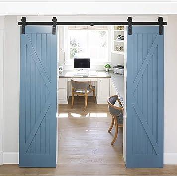 Riel para puerta corredera Kit Accesorios, Set armario 244 cm para ...