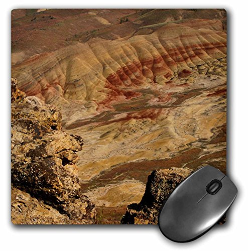 3dRose Sandy Mertens Oregon - Painted Hills - John Day Fossil Beds National Monument - MousePad (mp_156451_1)