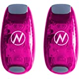 LED Safety Light (2 Pack) + FREE Bonuses   Clip On Strobe/Running Lights for Runners, Dogs, Bike, Walking   The Best High Visibility Accessories for Your Reflective Gear, Bicycle etc