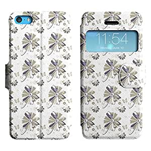 LEOCASE modelo lindo Funda Carcasa Cuero Tapa Case Para Apple iPhone 5C No.1003933